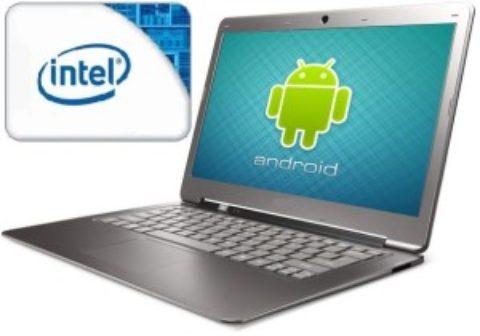 Intel annuncia nuovi notebook Android entro fine 2013