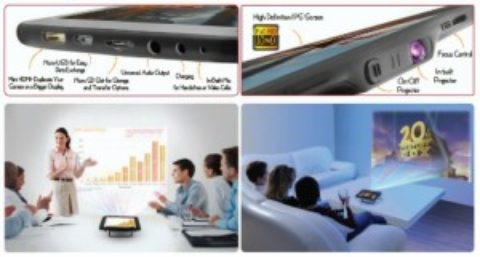 Nasce il primo tablet con videoproiettore integrato: LumiTab