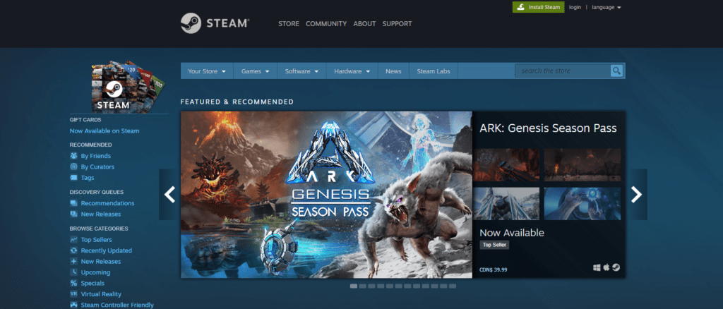 Assistenza Steam